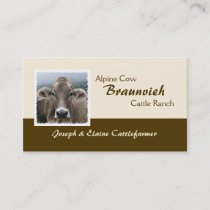 Braunvieh alpine dairy cow business card