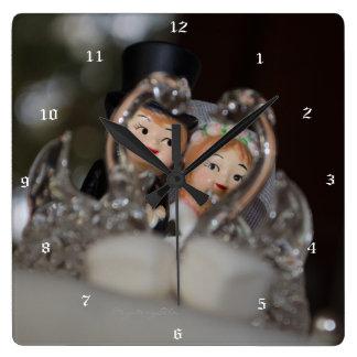 """""""Brautpaar"""" by mysteryella Reloj Cuadrado"""