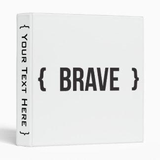 """Brave - acorchetado - blanco y negro carpeta 1"""""""
