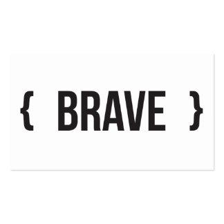 Brave - acorchetado - blanco y negro tarjetas de visita