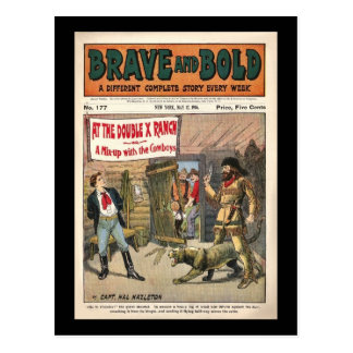 Brave and Bold Serial Western Comic Book- 1906 Postcard
