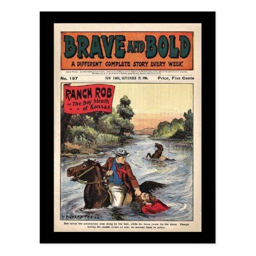 Brave and Bold Serial Western Comic  Ranch Bob '06 Postcard