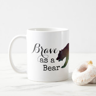 Brave as a Bear Watercolor Typography Coffee Mug