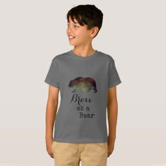 Brave as a Bear Watercolor Typography T-Shirt