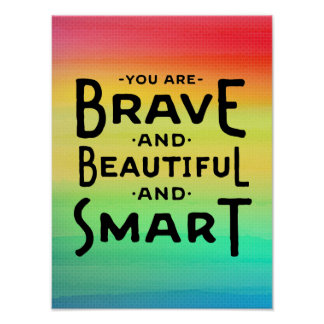 Brave, Beautiful and Smart Wall Art