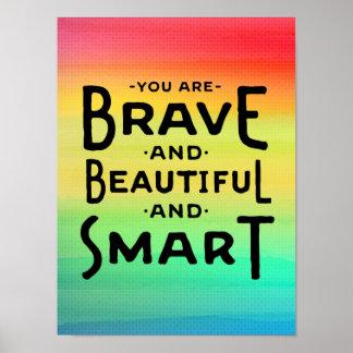 Brave, Beautiful and Smart Wall Art