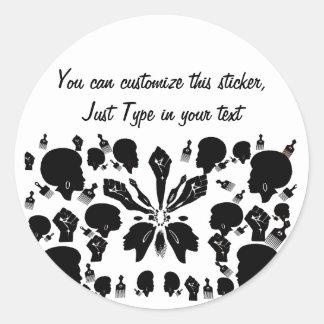Brave & Beautiful_ Classic Round Sticker