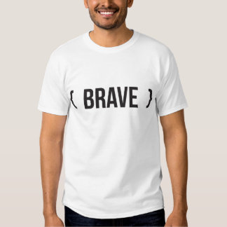Brave - Bracketed - Black and White T Shirt