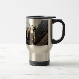 Brave challenger Yak  Bos grunniens 15 Oz Stainless Steel Travel Mug