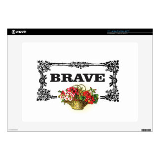 """brave flower art 15"""" laptop skin"""