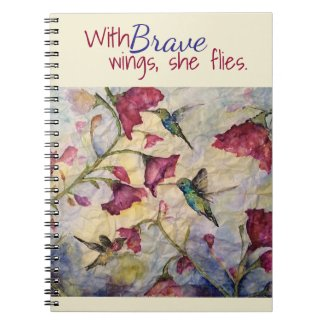 Brave Inspiration Hummingbird Art Notebook-Journal Notebook