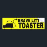 "Brave Little Toaster Bumper Sticker<br><div class=""desc"">Brave Little Toaster Bumper Sticker</div>"