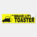 Brave Little Toaster Bumper Sticker Car Bumper Sticker