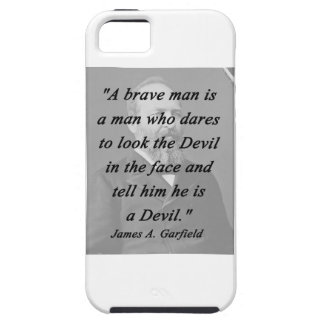 Brave Man - James Garfield iPhone SE/5/5s Case