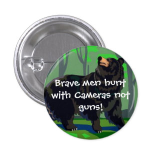 Brave men hunt with cameras buttons