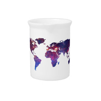 Brave New World Map Beverage Pitcher