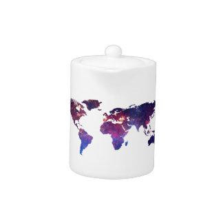 Brave New World Map Teapot