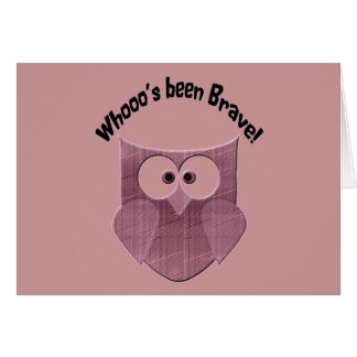 Brave Pink Owl Card