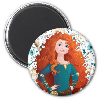 Brave Princess 2 Inch Round Magnet