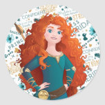 Brave Princess Classic Round Sticker