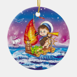 Brave sailor ceramic ornament