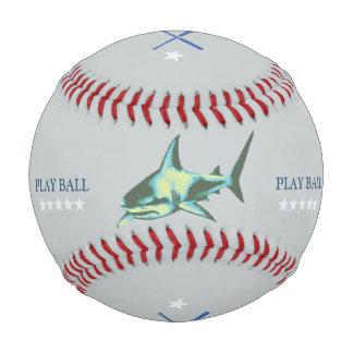 brave shark baseballer personalized baseball