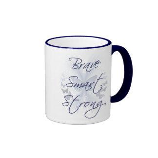 Brave Smart Strong Ringer Coffee Mug
