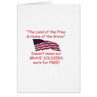 Brave Soldiers Card