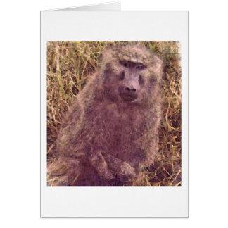 Brave, Sweet Baboon Card