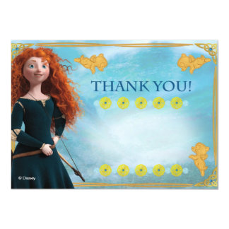 "Brave Thank You Cards 4.5"" X 6.25"" Invitation Card"