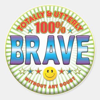 Brave Totally Classic Round Sticker