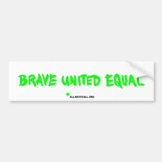 Brave United Equal - White Bumper Stickers