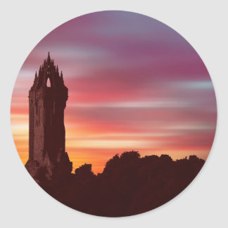 Braveheart Dawn (Digital Art) by David Elder Classic Round Sticker