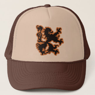 Braveheart Lion Crest Ænigma Graphic Design Trucker Hat