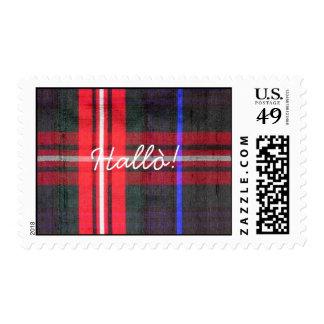 Braveheart Scottish Tartan Hello! Postage
