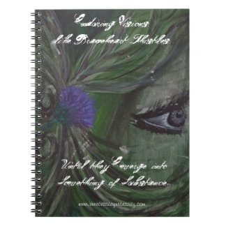 Braveheart Thistle Journal Spiral Note Books