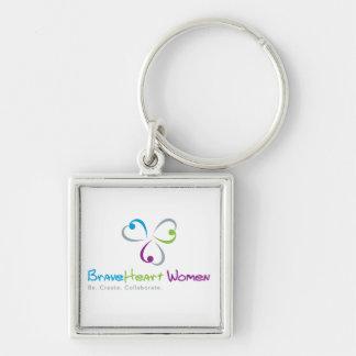 BraveHeart Women Keychain Square
