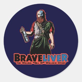 Braveliver Classic Round Sticker