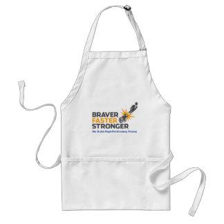 Braver Faster Stronger - Logo Adult Apron
