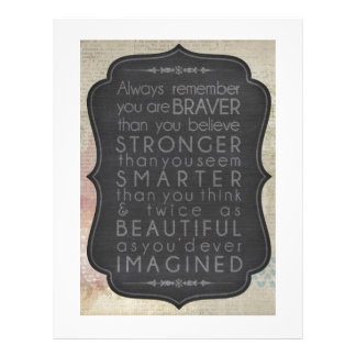 Braver, Stronger, Smarter And Twice As Beautiful Letterhead