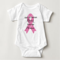Braver than my Momma- Breast cancer awareness Baby Bodysuit