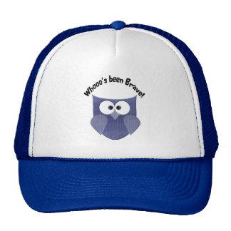 Bravery Blue Cute Owl Trucker Hat