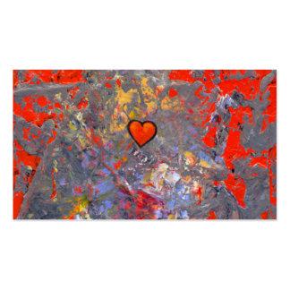 Bravery courage facing fears bold modern heart art business card templates