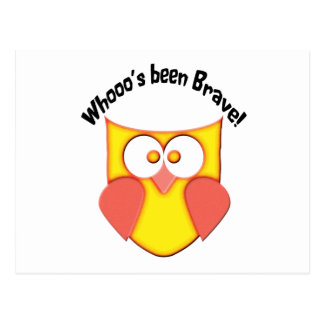 Bravery Cute Owl Postcard
