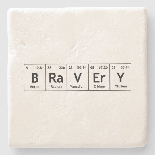 Bravery elements symbols periodic table words atom stone coaster bravery elements symbols periodic table words atom stone coaster urtaz Choice Image