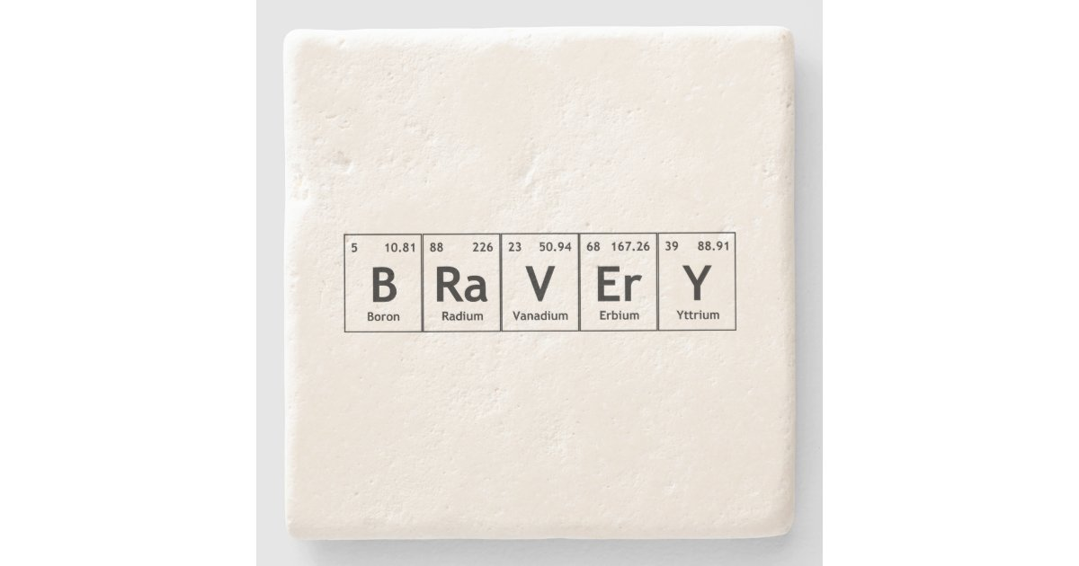 Periodic table holiday words from periodic table periodic table bravery elements symbols periodic table words atom stone coaster urtaz Image collections
