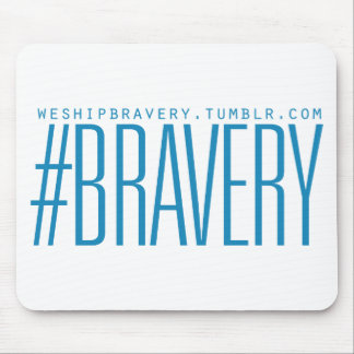 #Bravery Gifts - Light Blue on White Mouse Pad