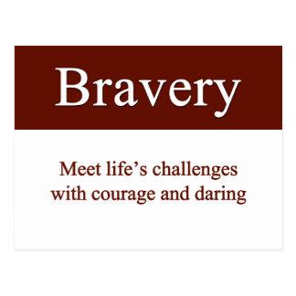 Bravery lets us meet life's challenges postcard