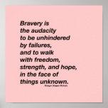 """Bravery quote poster<br><div class=""""desc"""">Morgan Harper Nichols quote and design</div>"""
