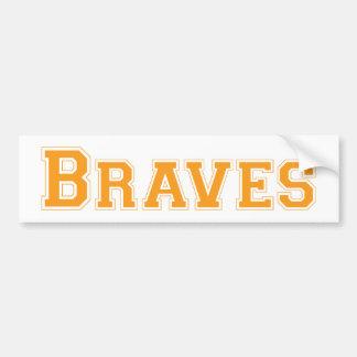 Braves square logo in orange car bumper sticker